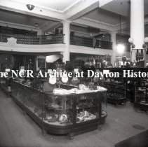 Image of NCR.1998.0776.056 - Glass Plate Negative -  Department Store - H.C.  Capwell  Oakland, CA  Leather Goods, June 7, 1920