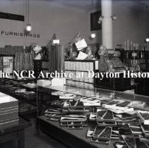 Image of NCR.1998.0777.019 - Glass Plate Negative -- Department Store - Frazer Paterson Co., Seattle, WA  Men's Furnishings May 15,1918