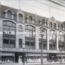 Image of NCR.1998.0777.021 - Glass Plate Negative -- Department Store - Fowler, Dick & Walker, The Boston Store, Wilkes Barre, PA  Exterior