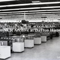 Image of NCR.1998.0824.139 - Film Negative - Department Stores - Spartan's Discount House - Checkout Lanes - Oklahoma City, OK - May 23, 1961