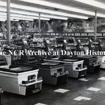 Image of NCR.1998.0828.227 - Film Negative - Grocery - Almar's Super Markets, Checkout lanes, Providence, RI December 9, 1958