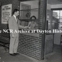 Image of NCR.1998.0837.003 - Negative Film - Misc. Installations - Dayton Parking Co. - Ticket Booth - 24 East Second Street - Dayton, OH - May 15, 1956