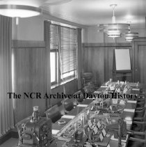 Image of NCR.1998.0913.205 - War Work - Display of War Products Made By NCR In The Board Room For General Knudsen's Visit, Dayton, OH March 9, 1942