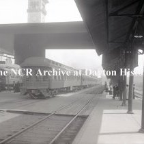 Image of Rear End of Passenger Train in the Union Station - Dayton, OH