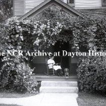 Image of NCR.1998.1124.051 - Glass-Plate Negatives -  Landscape Gardening - S. J. Gorman's porch, 219 Lowes Street, Dayton, OH