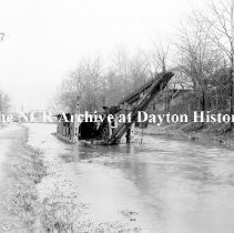 Image of Old dredge in canal-back of Fairgrounds-March 17,1911
