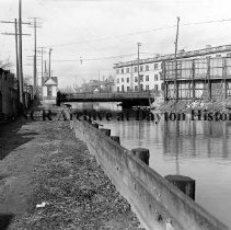Image of Warren St. Canal Bridge- Dayton March 22, 1911