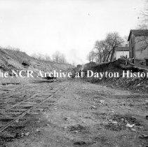 Image of NCR.1998.CD15.04 - Glass negative -   Burkhardt Ave cutting down hill, Dayton, OH Jan 1913