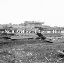Image of NCR.1998.CD21.30 - Glass negative - Flood -Flood boats made by NCR, Dayton, OH  1913