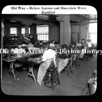 Image of NCR- Old way - Before aprons provided, Dayton, OH