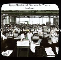 Image of NCR.1998.CD23.13 - Lantern-slides - NCR- Recess morning & afternoon for women, Dayton, OH Interior