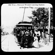 Image of NCR - Old way - Men & women leave same time, Dayton, OH