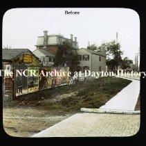 Image of NCR.1998.CD23.22 - Lantern-slides - NCR - Buildings before improvement, Dayton, OH