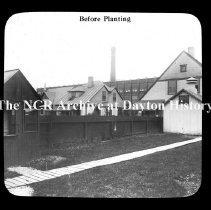 Image of NCR.1998.CD23.24 - Lantern-slides - NCR - Buildings before planting, Dayton, OH Exterior