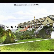 Image of NCR.1998.CD23.25 - Lantern-slides - NCR - Buildings after planting, Dayton, OH Exterior