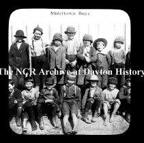 Image of NCR.1998.CD23.26 - Lantern-slides - NCR - Slidertown boys - Circa 1900, Dayton, OH Exterior