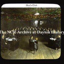 Image of NCR.1998.CD23.29 - Lantern-slides - NCR - Men's Club, Dayton, OH Interior