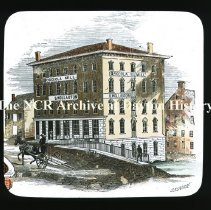 Image of NCR.1998.CD24.04 - Lantern-slides -   Drawing of Osceola Mill, Dayton, OH 