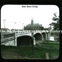 Image of NCR.1998.CD24.10 - Lantern-slides -  Main Street Bridge  - Dayton, OH
