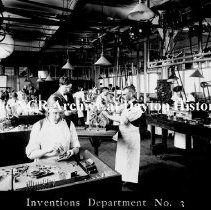 Image of NCR.1998.CD35.18 - Nitrate film - NCR Inventions Dept. #3 - Charles F. Kettering Dayton, OH Interior