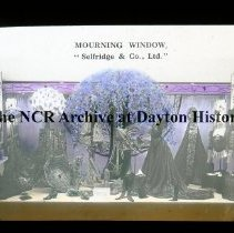 Image of NCR.1998.L0046.010 - Lantern Slides - Store Window Displays around the world, circa 1912 - Mourning Window  - Selfridge & Co., Ltd.