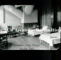 Image of NCR.1998.L0107.073 - Lantern Slide - Welfare Work  - Women's Rest Room- Kodak Park - Eastman Kodak Company