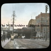 Image of NCR.1998.L0160.009 - Lantern Slides - Rochester, NY - Elevated Tracks