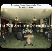 Image of NCR.1998.L0160.025 - Lantern Slides - Ohio Cities - Lounging Room - Commercial Club - Springfield, OH