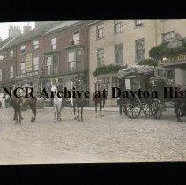Image of NCR.1998.L0169.084 - Lantern Slides - Northallerton, England - Northallerton - Golden Lion Hotel - July 18, 1886 - Bonnett