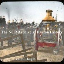 Image of NCR.1998.L0265.010 - Lantern Slides - Misc. Dayton 1920 - The fire engine