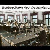 Image of NCR.1998.L0273.008 - Lantern Slides - Stores in Germany - Dresdener Handels-Bank - Dresden