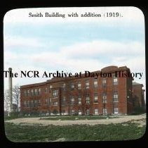 Image of NCR.1998.L0315.029 - Lantern Slides - Miami Valley Hospital - Dayton, OH - Smith Building with addition - 1919