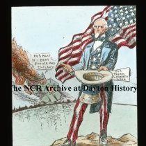 Image of NCR.1998.L0352.045 - Lantern Slides - World War I posters - Come across or the Kaiser will