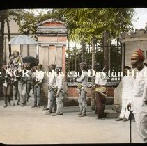 Image of NCR.1998.L0373.050 - Lantern Slides - Jolo, Philippines - Old Sultana and body guard