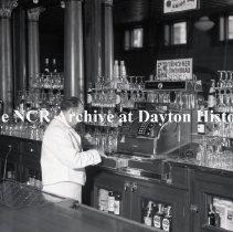 Image of NCR.1998.LRN040.028 - Nitrate negative - Restaurant - V Restaurant, Holyoke, MA.  March 11, 1937