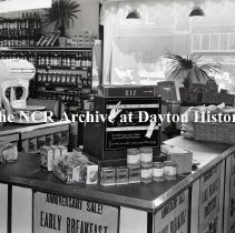 """Image of NCR.1998.LRN056.001 - Nitrate negative -  Wholesale Grocery - Paxton Wholesale Grocery Co. - Danville, IL - October 5, 1936 - Class 2000 Installation ( Retail outlets: """"Grab-It-Here Stores"""". Company founded by C. Sherman Paxton around 1919.  Recent address listed as 2715 1/2 Vermillion St.  Danville, IL)"""