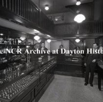 Image of NCR.1998.LRN110.011 - Nitrate Negative- -  Class 2000 Installation-  Misc. Users-  Unger's Jewelry Store, Pittsburgh, PA.  April 2, 1929