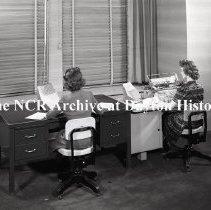 Image of NCR.1998.LRN282.003 - Safety Negative - Misc - Frigidaire, April 7, 1944; Accounting Machine Desk Setup