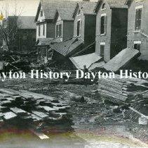 Image of P.1987.39.34 - Print, Photographic - 1913 Flood  - June Street, east side