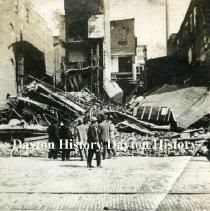 Image of P.1987.68.28 - Print, Photographic - 1913 Flood  - Collapsed Leonard Building