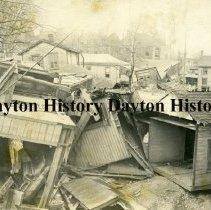 Image of P.1989.23.06 - Print, Photographic - 1913 Flood - Showing flood damage - Dayton, OH