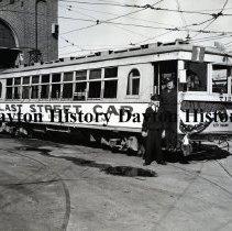 Image of P.1997.66.06 - Print, Photographic - City Railway Co. last street car trip, Dayton, OH.