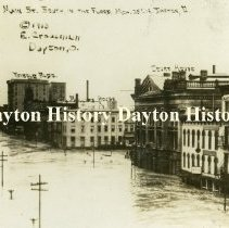 Image of P.2003.41.1234 - Postcard - 1913 Flood - Dayton, OH - Main St., looking South