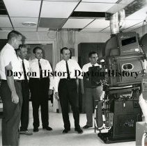 Image of P.2003.71.07711 - Photograph - Melody 49 Drive-In Theater, Projection Room, Brookville OH, August 1966