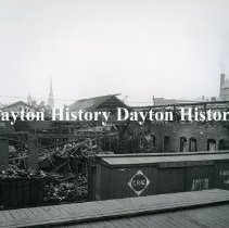 Image of 1913 Flood, Dayton OH -  Remains Dayton Tank  7 Pump Co.