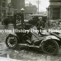 Image of P.2003.71.39809 - Photograph - 1913 Flood - Dayton, OH - Flood damage