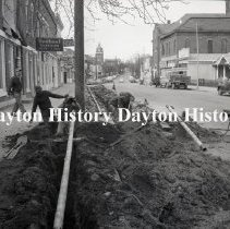 Image of Cedarville, OH - Laying pipe - January, 1956