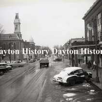 Image of P.2003.71.40556 - Negative, Film - Greenfield, OH - Business District - January 1951