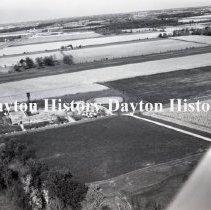 Image of P.2003.71.40945 - Negative, Film - Spring Valley, Ohio - Aerial of School - December 1966