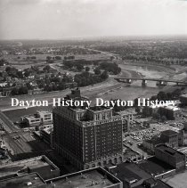Image of P.2003.71.41173 - Negative, Film - Dayton, OH - Downtown from Mead Tower - June, 1977